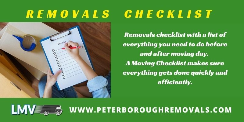 - Removals Checklist